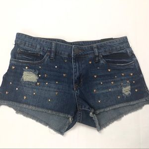 STS Blue Heart Studded Shorts Size 27